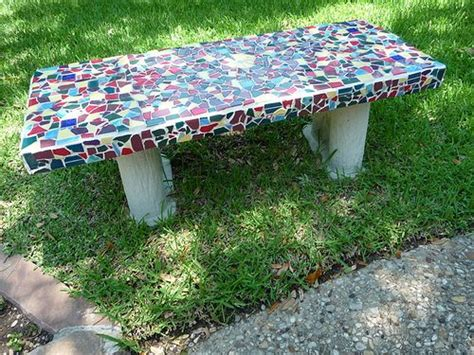 mosaic garden bench love this mosaic garden bench things i love pinterest