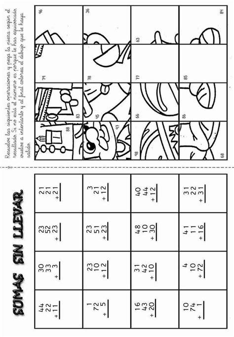 sumas para ninos de primer grado actividades para ni 241 os preescolar primaria e inicial