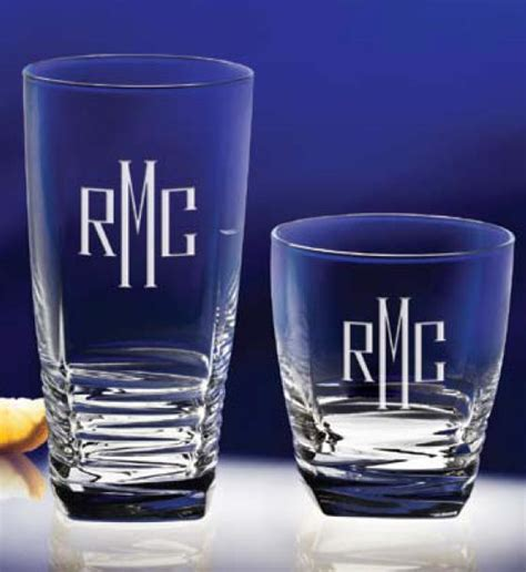 personalized barware from dann monogramed and engraved