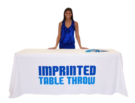 trade show table throw 96 quot l imprinted economy trade show table throw w graphic 2