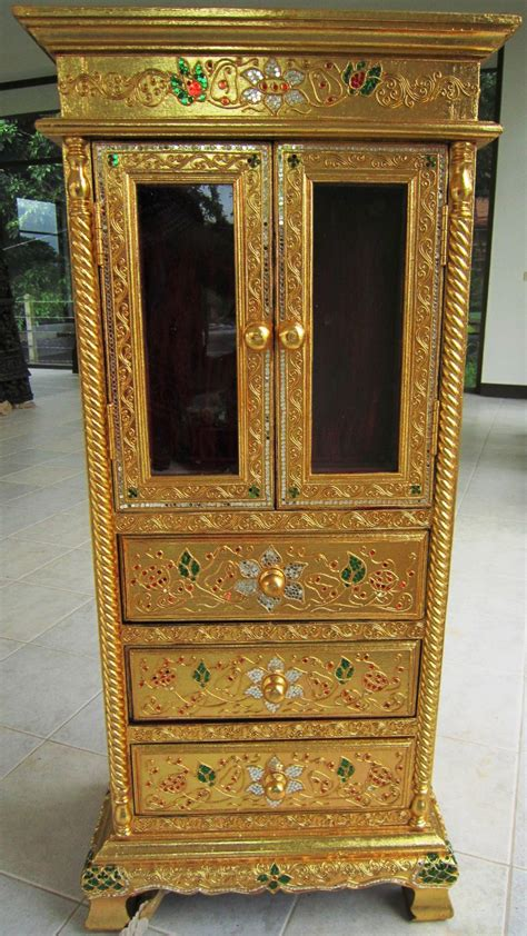 golden cabinets carved gold leaf display cabinet