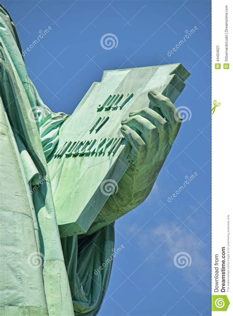 liberty out of a clear blue sky books inscribed tablet on liberty left stock image