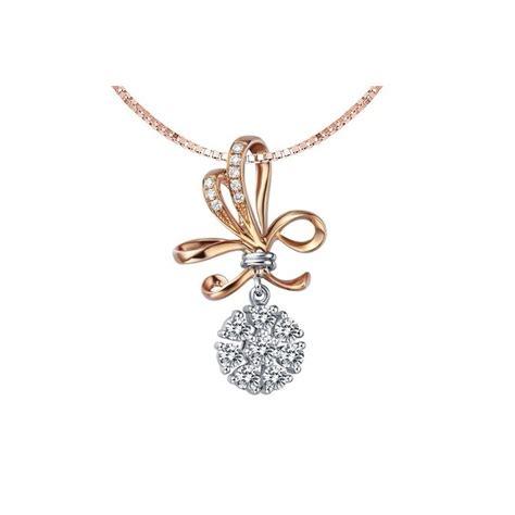 luxurious unique circle pendant on 18k gold