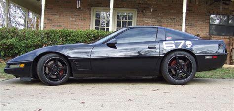 black c4 corvette black c4 s with black wheels let s see em