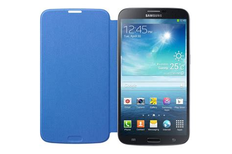 Flipcover Mega 63 Samsung Galaxy S View Flipcase Flip Cover samsung galaxy mega flip cover folio blue cell phones accessories