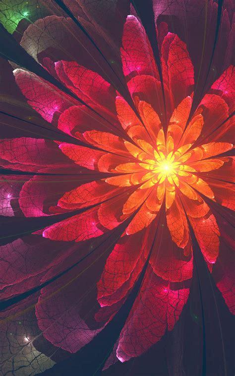 fractal flower  pure  ultra hd mobile wallpaper