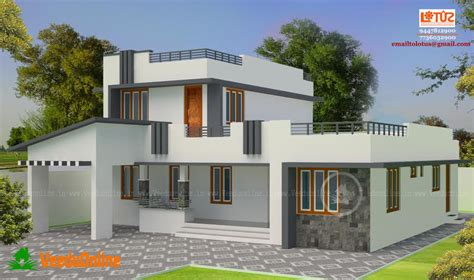 simple contemporary home design kerala home design simple contemporary home design 1950 square feet