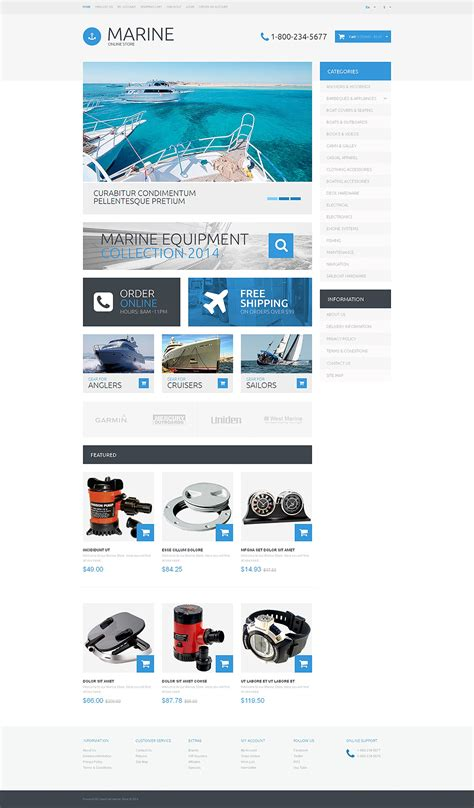 opencart templates responsive yachting responsive opencart template 48755