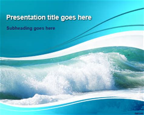 powerpoint themes ocean free ocean waves powerpoint template