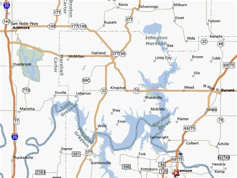 texoma texas map image gallery texoma texas