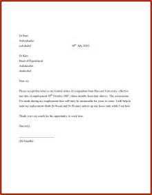 Resignation Letter How To Format A Resignation Letter Sle Of Resignation 8 Effective Immediately Resignation