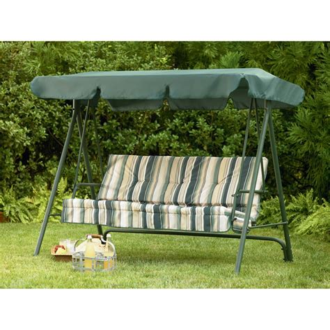 outdoor swing awning replacement sears garden oasis 3 person swing replacement canopy
