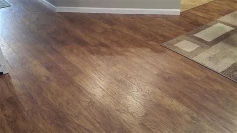 Distressed Hickory Laminate Flooring Home Depot - home decorators collection scraped light hickory 12