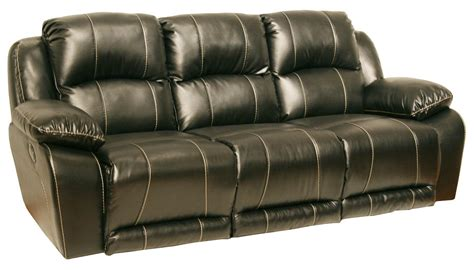 catnapper leather sofa catnapper torino power bonded leather sofa black