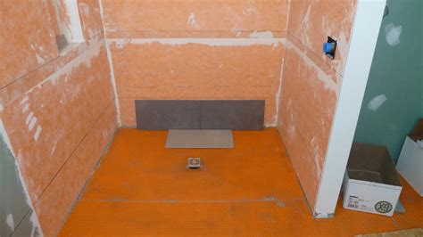 Ditra Shower Pan by Time For More Detail Bathroom Tile Quadomated