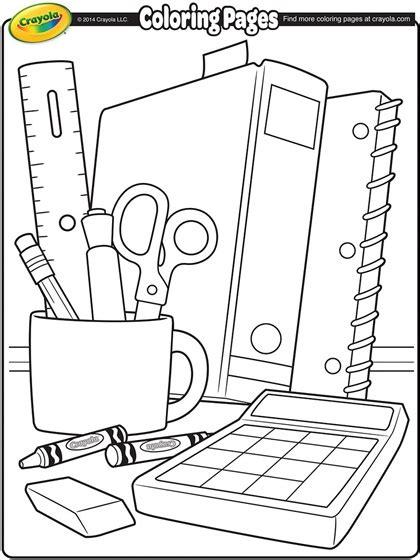 coloring supplies school supplies coloring page crayola