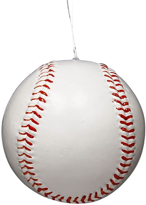 Baseball Ornament - ms1364 3 quot painted baseball ornament