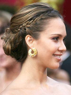 bridesmaid hairstyles jessica alba celebrity hair trends chignon 187 destin beach weddings in