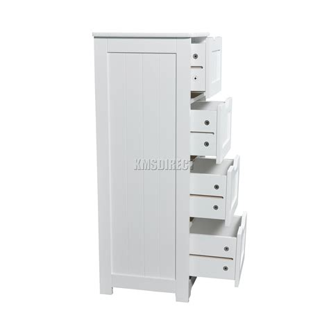 cabinet door organizers bathroom foxhunter white wooden 4 drawer bathroom storage cupboard