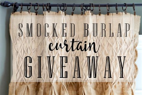 smocked burlap curtains for sale smocked burlap curtains giveaway thistlewood farm