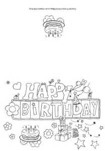 happy birthday coloring card happy birthday colouring card