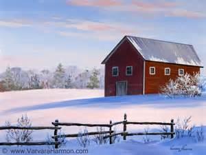 canvas barn barn original landscape paintings by maine artist varvara