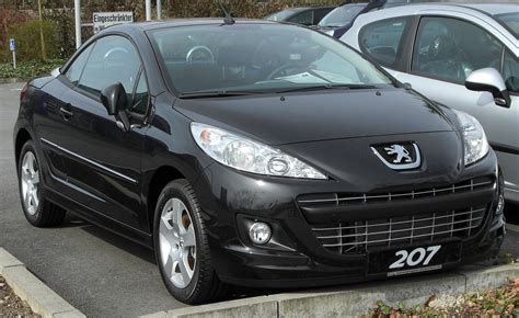 peugeot 207 year 2010 peugeot 207 cc pictures information and specs