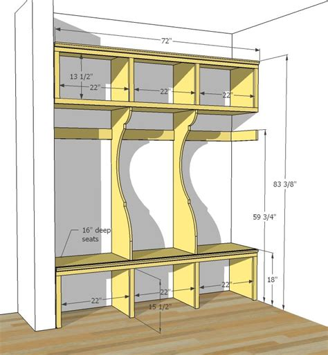 mudroom locker plans diy ana white build a smiling mudroom free and easy diy