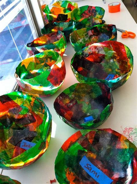 Paper Bowl Crafts - crafts made from tissue paper
