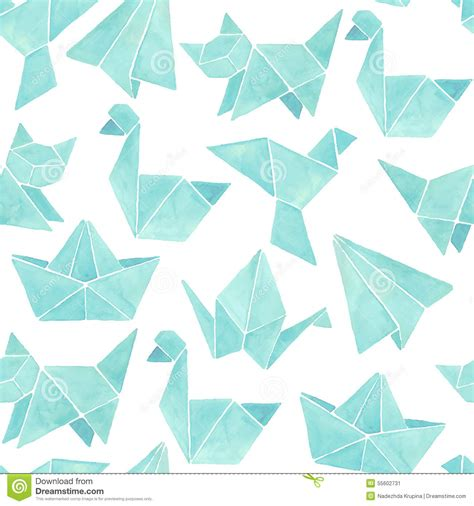 origami pattern vector origami pattern background with dinosaurs vector