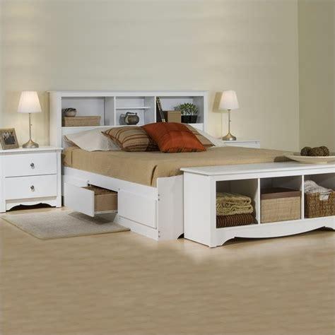 white queen storage bedroom set white queen wood platform storage bed 3 piece bedroom set