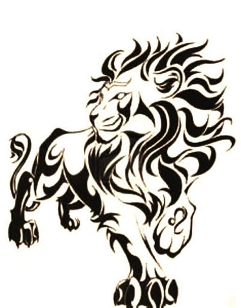tribal lion tattoo design tribal tattoos clipart best