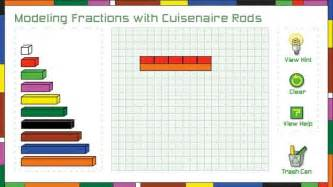 Modeling fractions with cuisenaire rods math interactive pbs