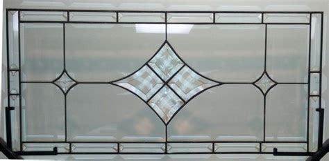 Custom Stained Glass Window Panel / Bevels And Clear