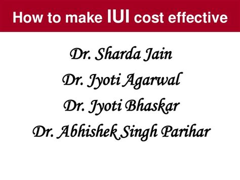 Home Births More Cost Effective How To Make Iui Cost Effective