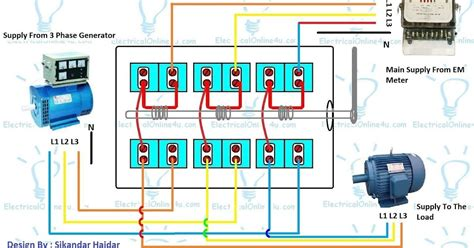 single phase changeover switch wiring diagram 45 wiring