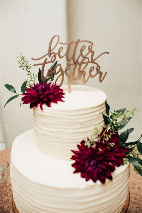 alma bakery simple 2 tier textured cake burgundy dahlias better