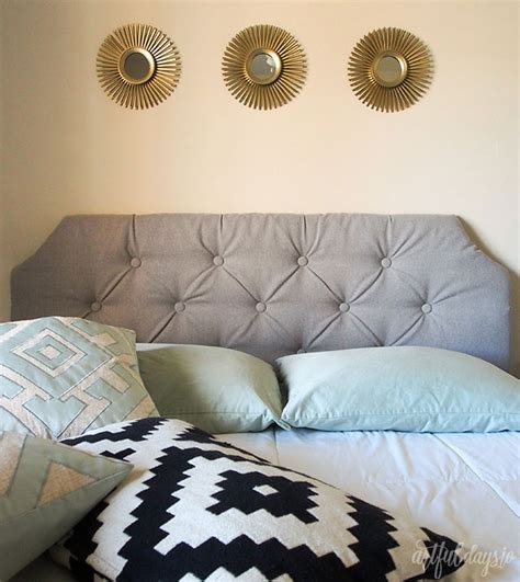 diy tufted headboard queen queen button tufted headboard tutorial artful days