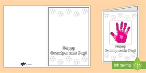 grandparents card template grandparents day handprint gift card template grandparents