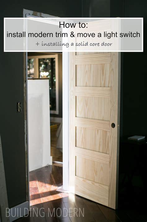 installing a new interior door a new door trim