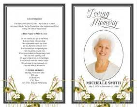 template for funeral program funeral program template