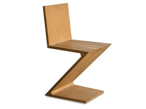 Modern Outdoor Chaise Zig Zag Chair Rietveld
