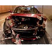 Cristiano Ronaldo Car Crash In Ferrari  CCTV Video Of