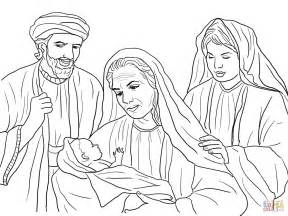 Boaz Naomi Ruth And Baby Obed Coloring Page Free Ruth Coloring Pages