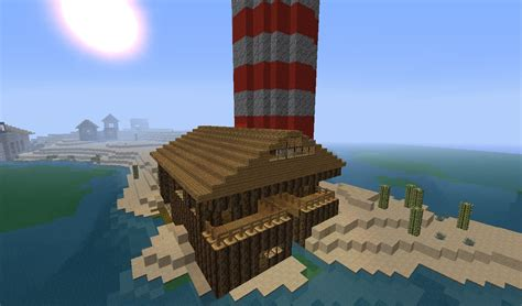 the dock house dock house lighthouse minecraft project