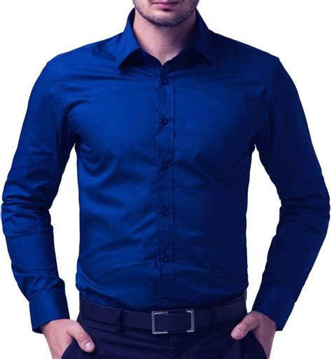 being fab s solid formal blue shirt buy royal blue