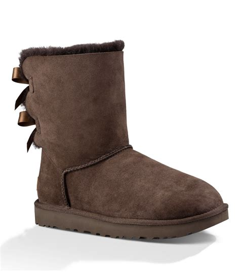 bow boots ugg bailey bow calf boots in brown save 58 lyst
