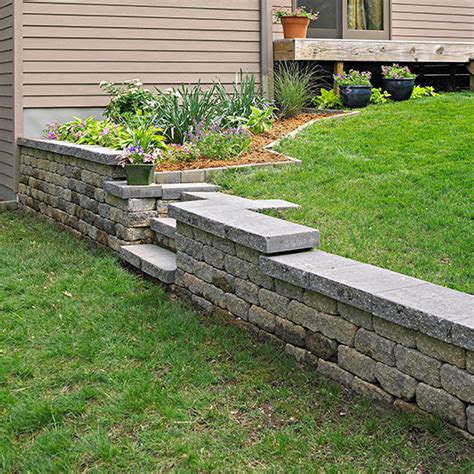 small backyard retaining wall build a retaining wall