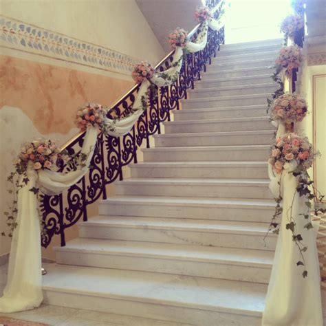stairs decorations elegant staircase decoration church weddings pinterest
