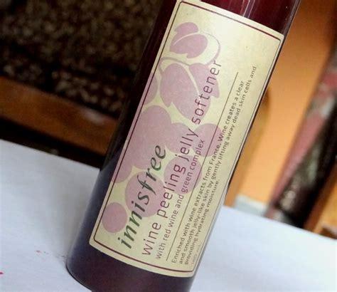 Harga Innisfree Wine Peeling Jelly Softener review innisfree wine peeling jelly softener urashop
